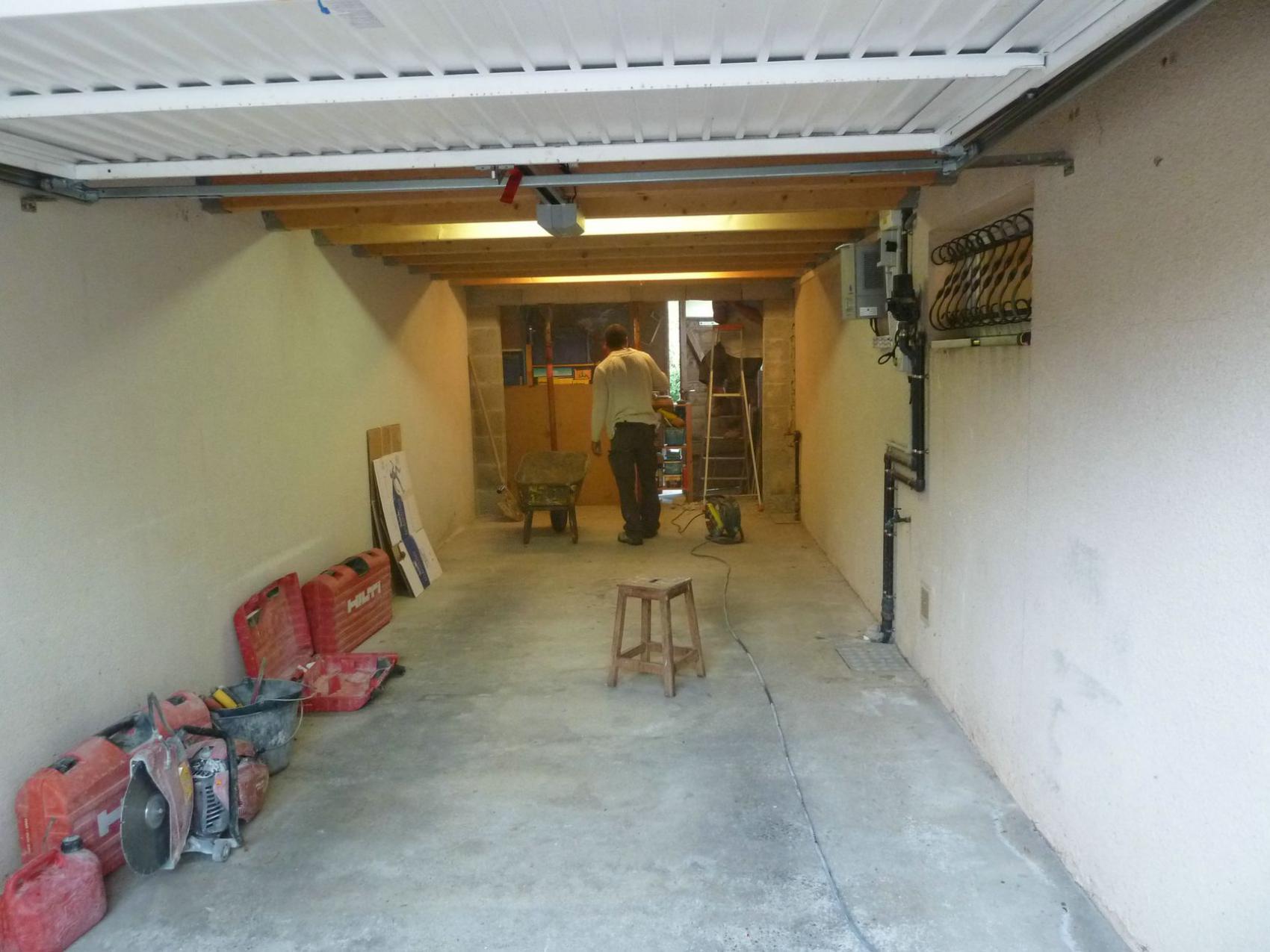 travaux de transformation d 39 une garage en studio la rochelle. Black Bedroom Furniture Sets. Home Design Ideas