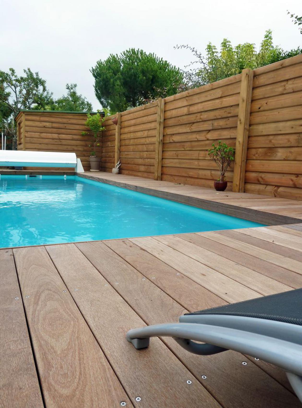 Piscine Bois Avec Terrasse → construction d'une piscine avec terrasse bois, à périgny
