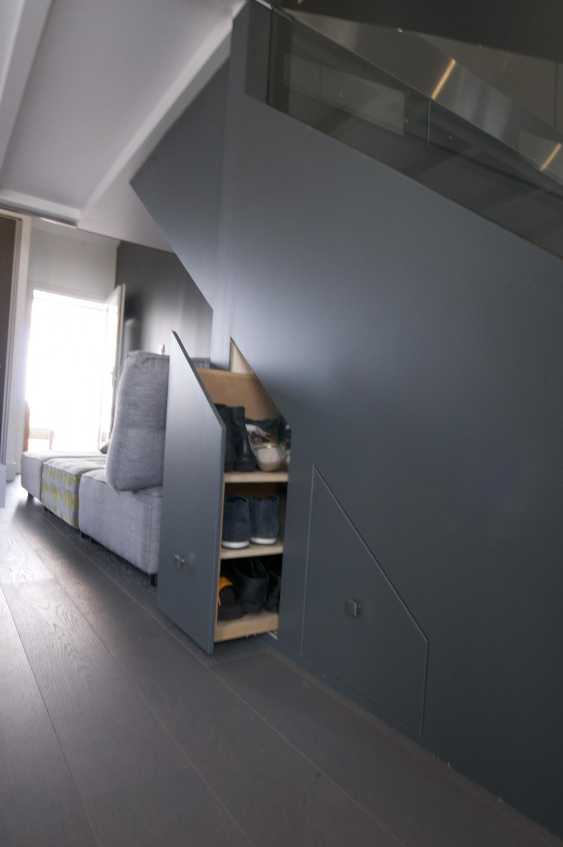 r novation compl te d 39 un appartement contemporain la. Black Bedroom Furniture Sets. Home Design Ideas